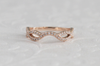 Curved Twist Diamond Stacking Ring in 14K Rose Gold