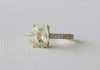 Cushion Light Yellow Sapphire Diamond Solitaire Engagement Ring in 14K Yellow Gold