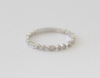2 mm Milgrained Diamond Eternity Bead Ring in 18K White Gold