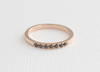 2 mm Black Diamond Pave' Set Ring in 14K Rose Gold