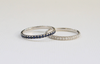 Diamond and Sapphire Eternity Stacking Rings in 14K Gold