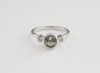 Mint Green Amethyst and Diamond Bezel Ring in 14K White Gold