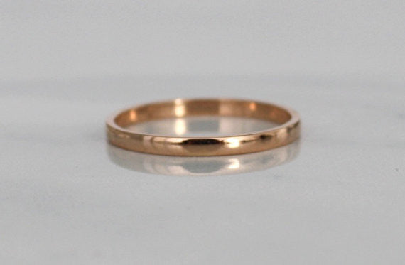 Handmade 18K Rose Gold Wedding Band