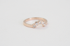 Tiara Bubble Style Bezel Diamond Ring in 14K Rose Gold