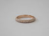 3-Row Micro Pave' Full Eternity Diamond Band in 18K Rose Gold
