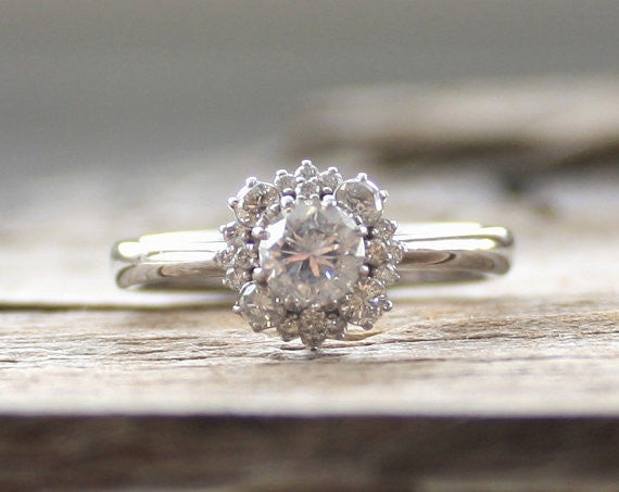 In Bloom Diamond Cluster Ring in 14K White Gold