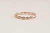 Milgrained Full Eternity Scalloped Diamond Ring in 14K Rose Gold