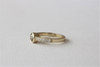 Champagne Diamond Bezel Milgrained Ring in 14K Yellow Gold
