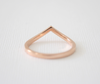 Diamond Chevron Curved Band in 14K Rose Gold