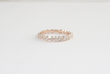 Eternity Diamond Bead Set Ring in 14K Rose Gold