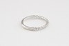 Half Eternity Bead Style Bubble Ring in 14K White Gold