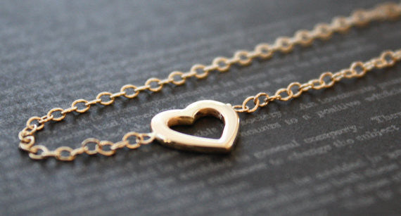 Heart Bracelet in 14K Solid Gold