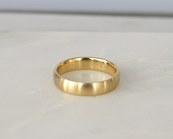 5 mm Matte Finish Men's Band in 14K Yellow Gold