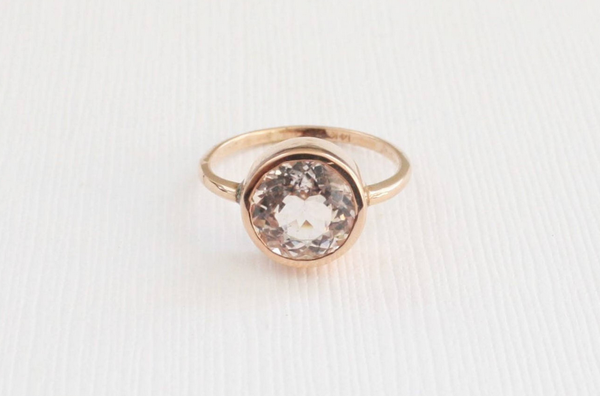 3.50 Cts. Pink Cor-de-Rosa Morganite in 14K Rose Gold