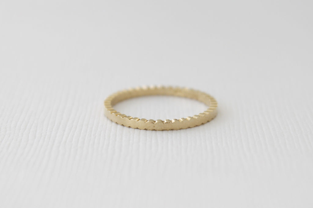 Solid Gold Dot Ring in 14K