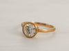 Round Forever One Moissanite Bezel Ring in 14K Yellow Gold