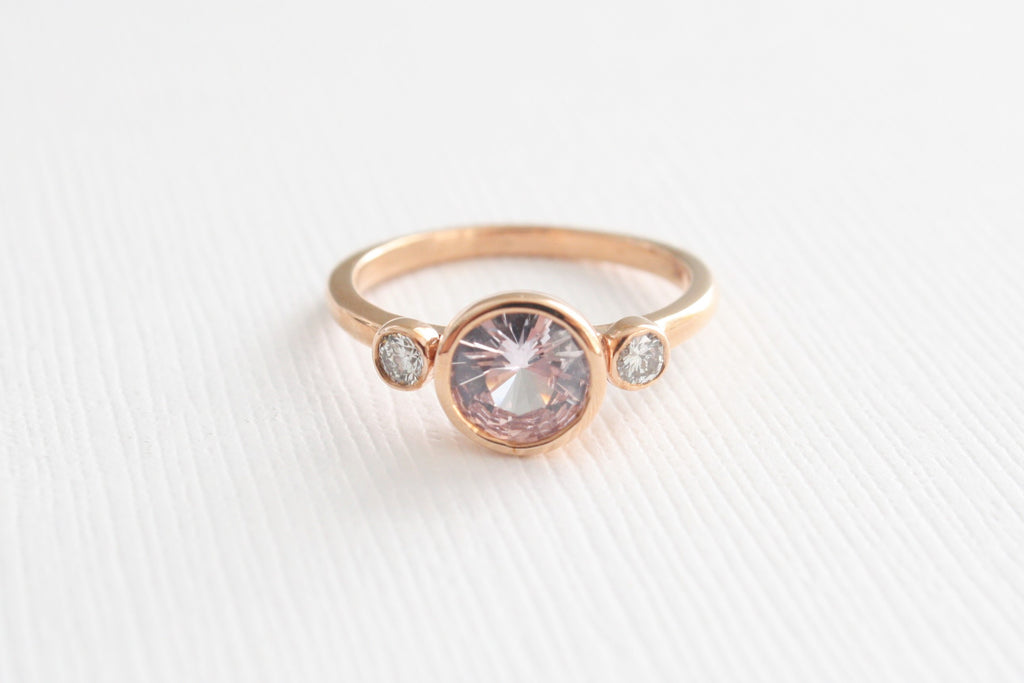 amp sabo diamond pink stone ring rings image thomas gold rose ellie from