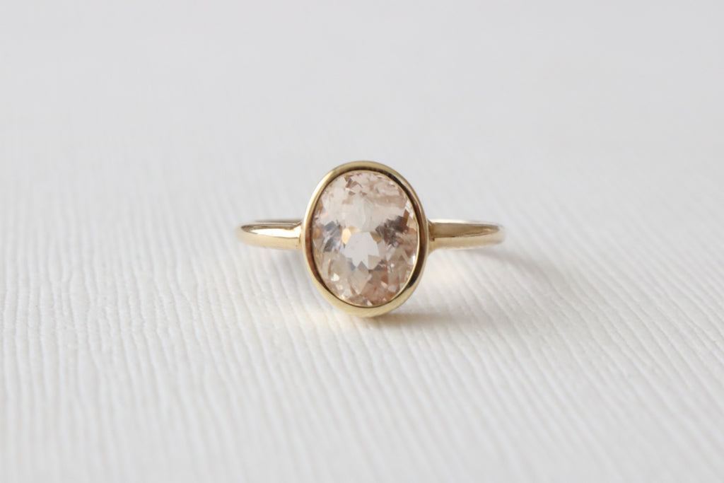 2.00 Cts. Pink Cor-de-Rosa Morganite in 14K Yellow Gold