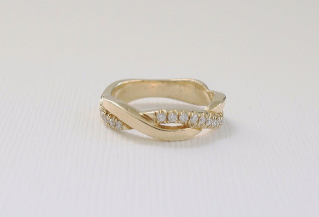 Twist Diamond Eternity Ring in 14K Yellow Gold