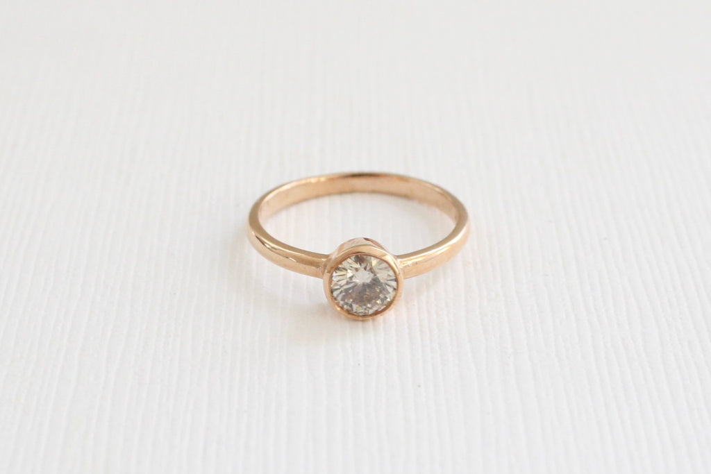 Solitaire Diamond Engagement Ring in 14K Rose Gold