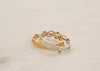 Engravable Scroll Diamond Eternity Stack Ring in 14K Rose, White and Yellow Gold