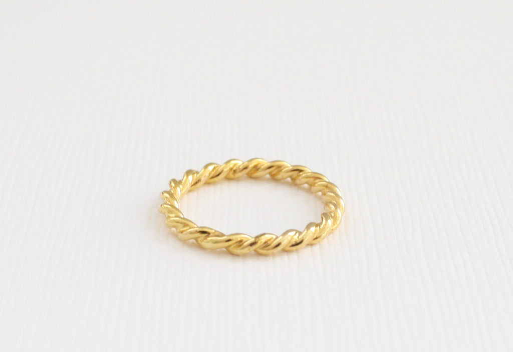 Twist Infinity Stacking Ring in 2 mm 14K Yellow Gold