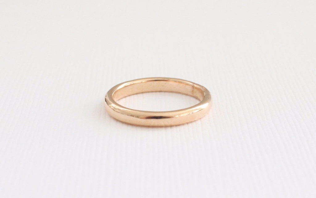 Handmade 14K Rose Gold Wedding Band