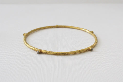 bangle thick gold solid jewelry bracelet hammered img bangles