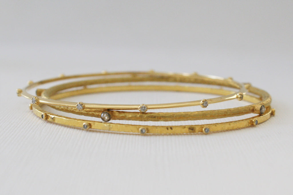 p com solid yellow high gold polished bracelet goldenmine domed bangle bracelets bangles