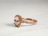 2.60 Cts. White Sapphire Diamond Halo Ring in 14K Rose Gold