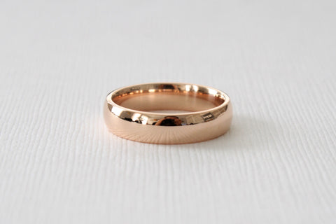 Handmade 5 mm Men's 14K Rose Gold Wedding Band
