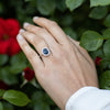 1.89 Ct. Oval Cornflower Blue Sapphire & Diamond Halo Engagement Ring in 14K White Gold