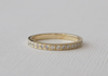 2.1 mm Handmade Half Eternity Pave' Diamond Stacking Ring in 14K Gold