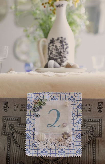 Linen Stationery ~ Table Numbers