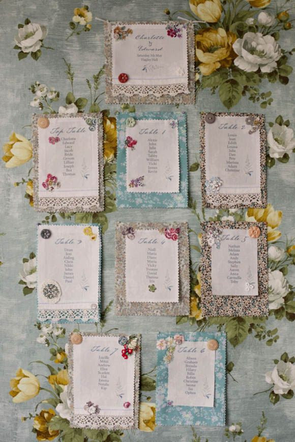 Linen Stationery ~ Seating Plan Panels