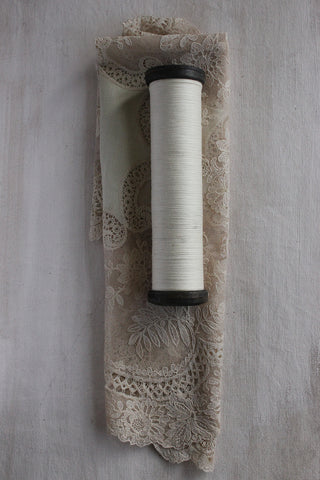 A Large Mill Spool of Antique Linen Thread