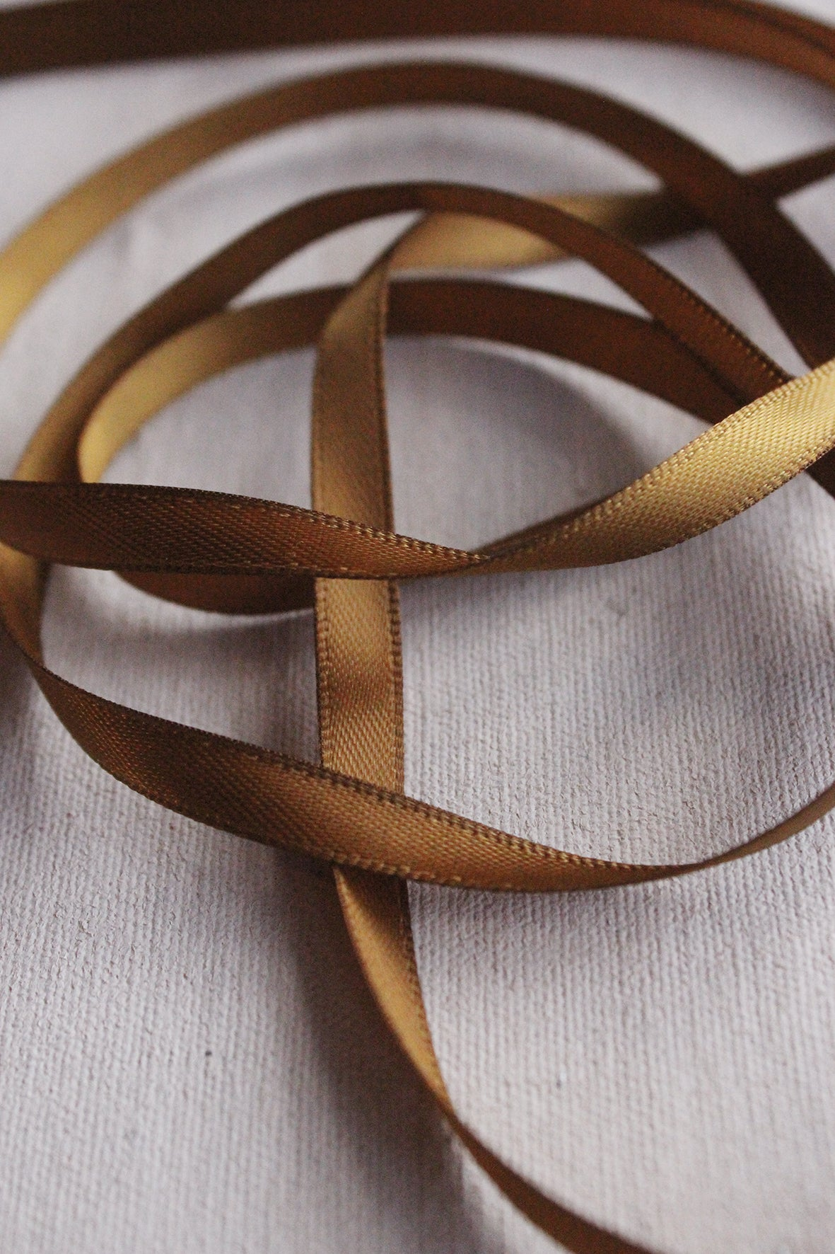 Satin Ribbon - CINNAMON GOLD