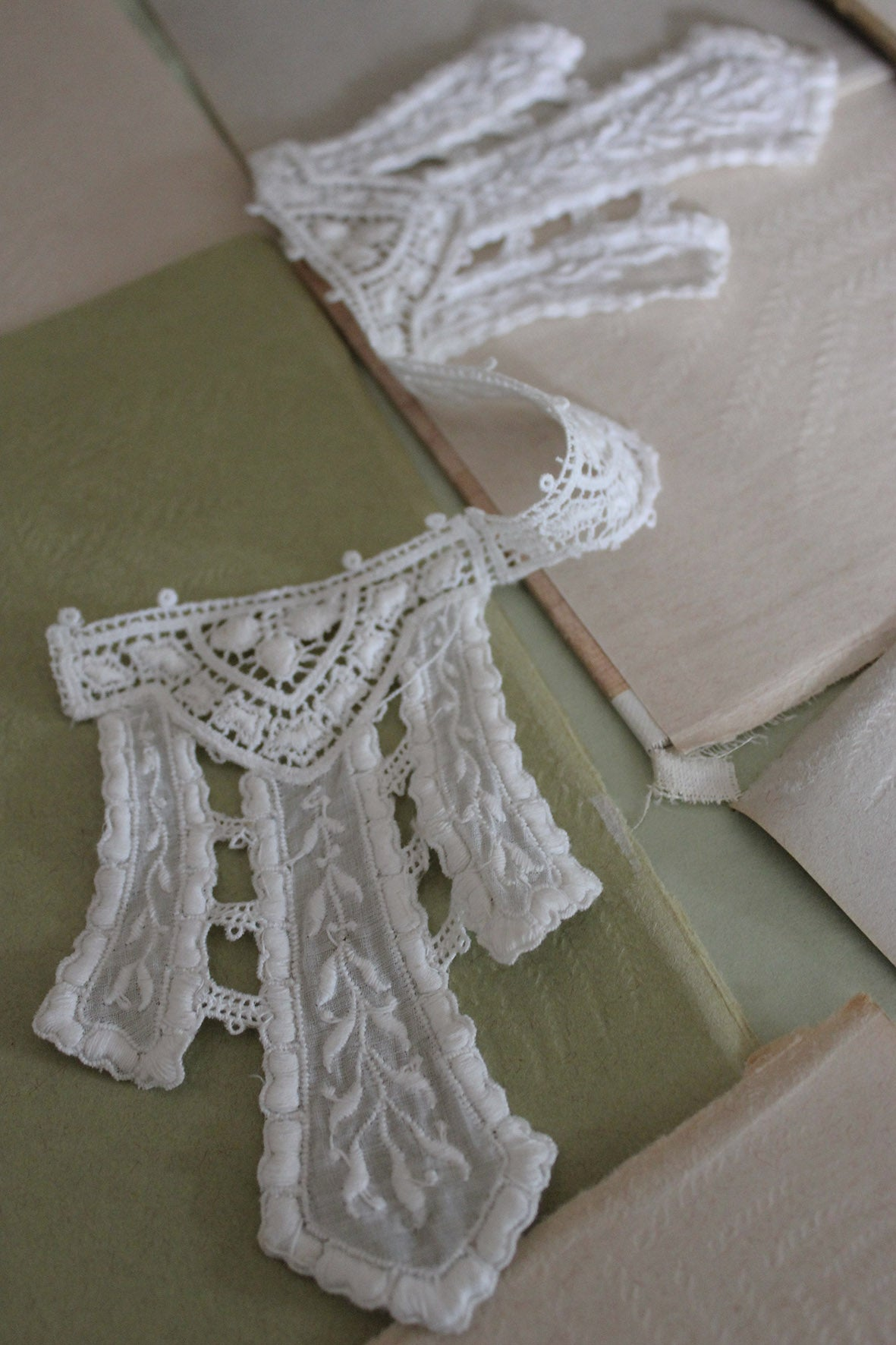 Antique White Cutwork Dress Panel/Collar