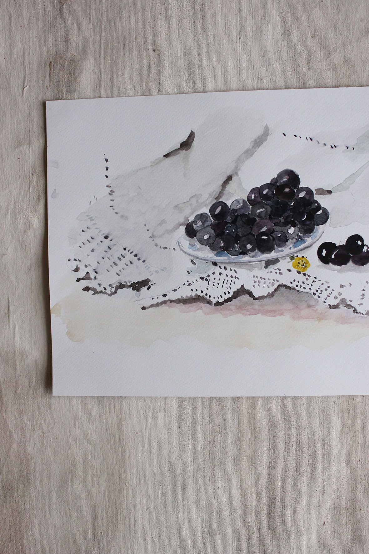 Still Life - Grapes and Lace