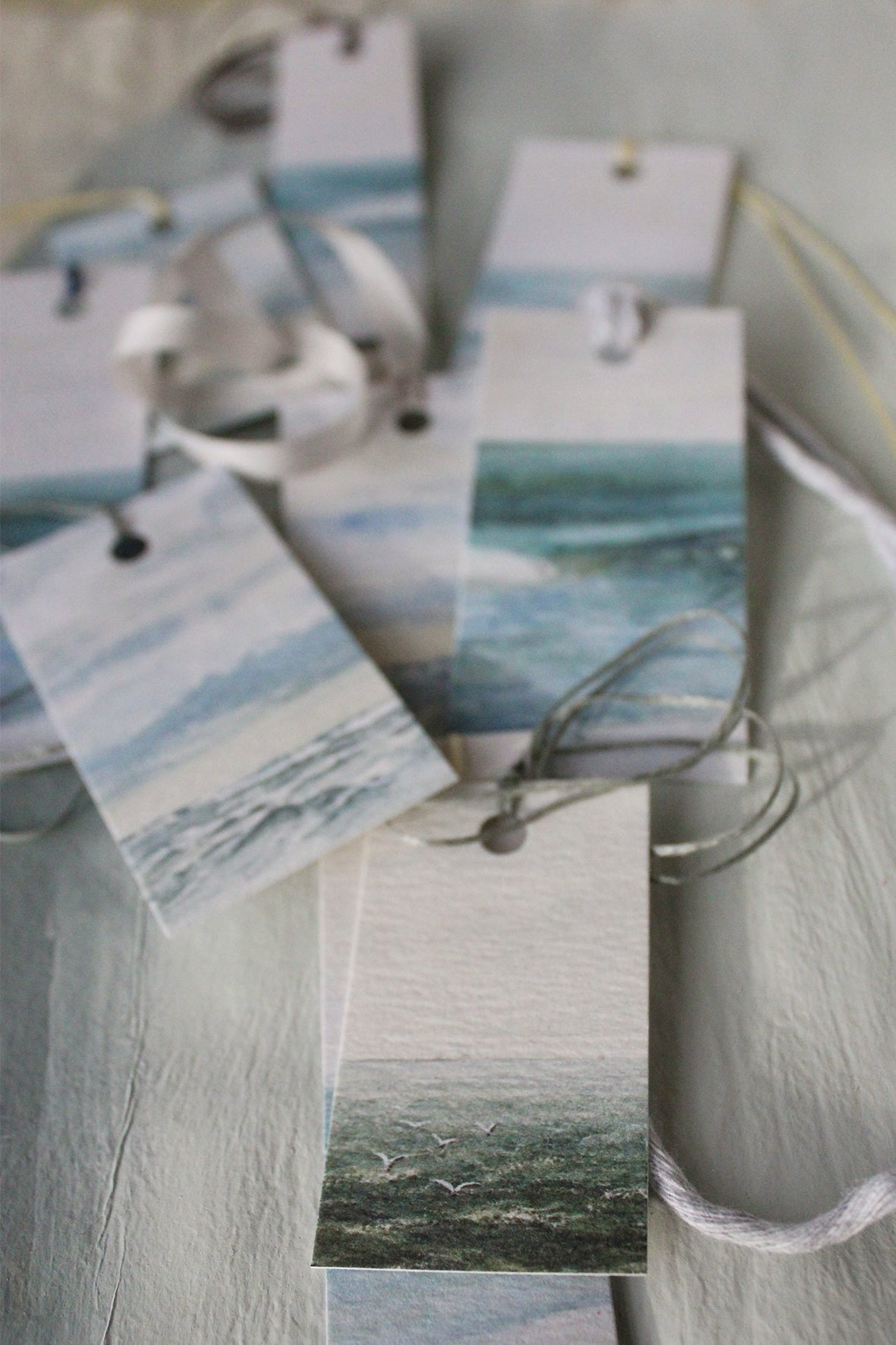 """BY_THE_SEA"" Printed Tags (set of 9)"