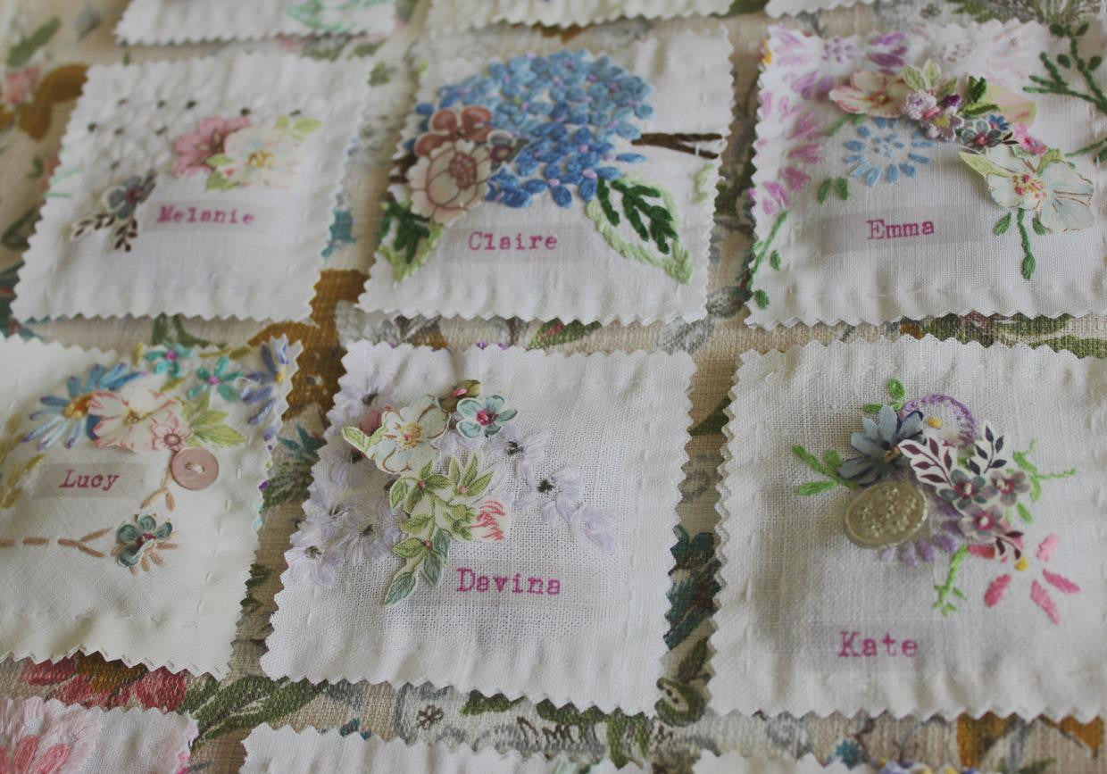 Linen Stationery ~ 'Lavender Ravioli' ~ Place Names