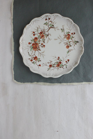 Early Victorian Floral Plate