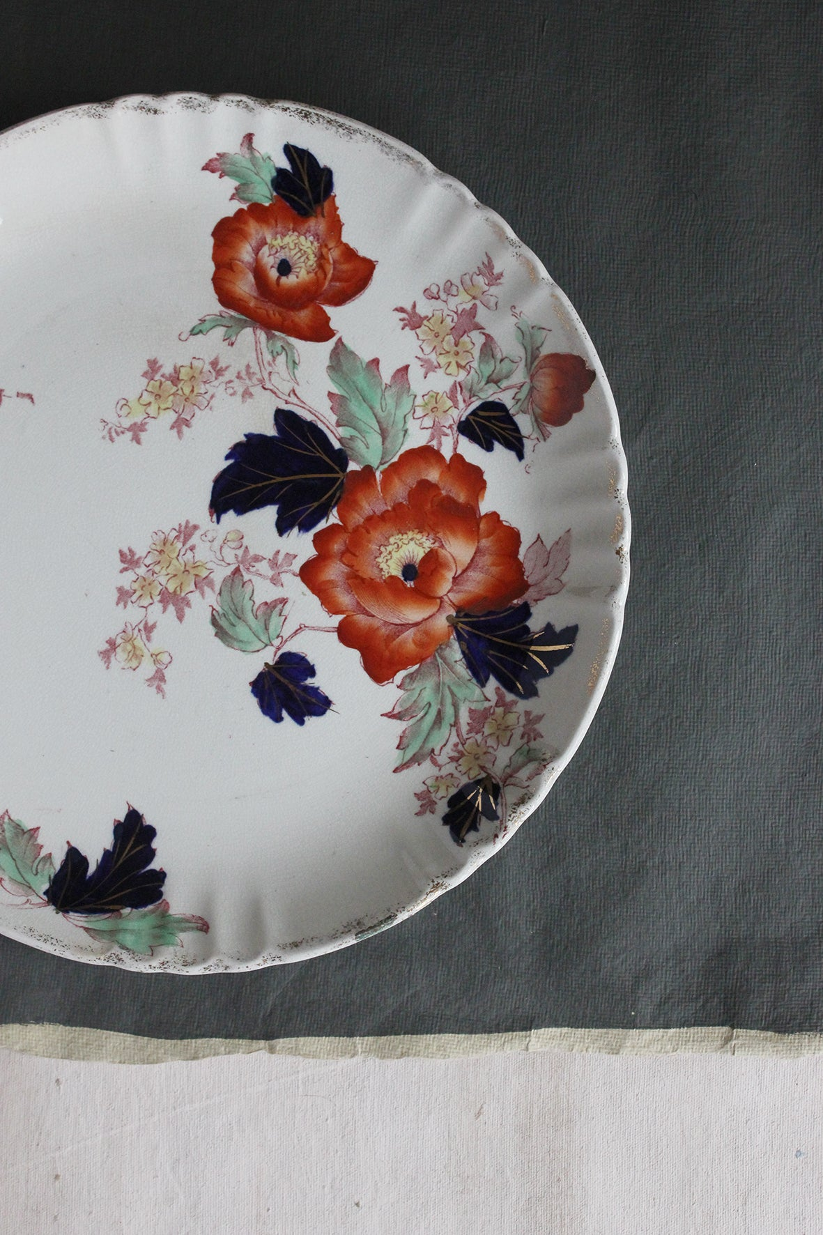 Rouge and Indigo - Antique Plate