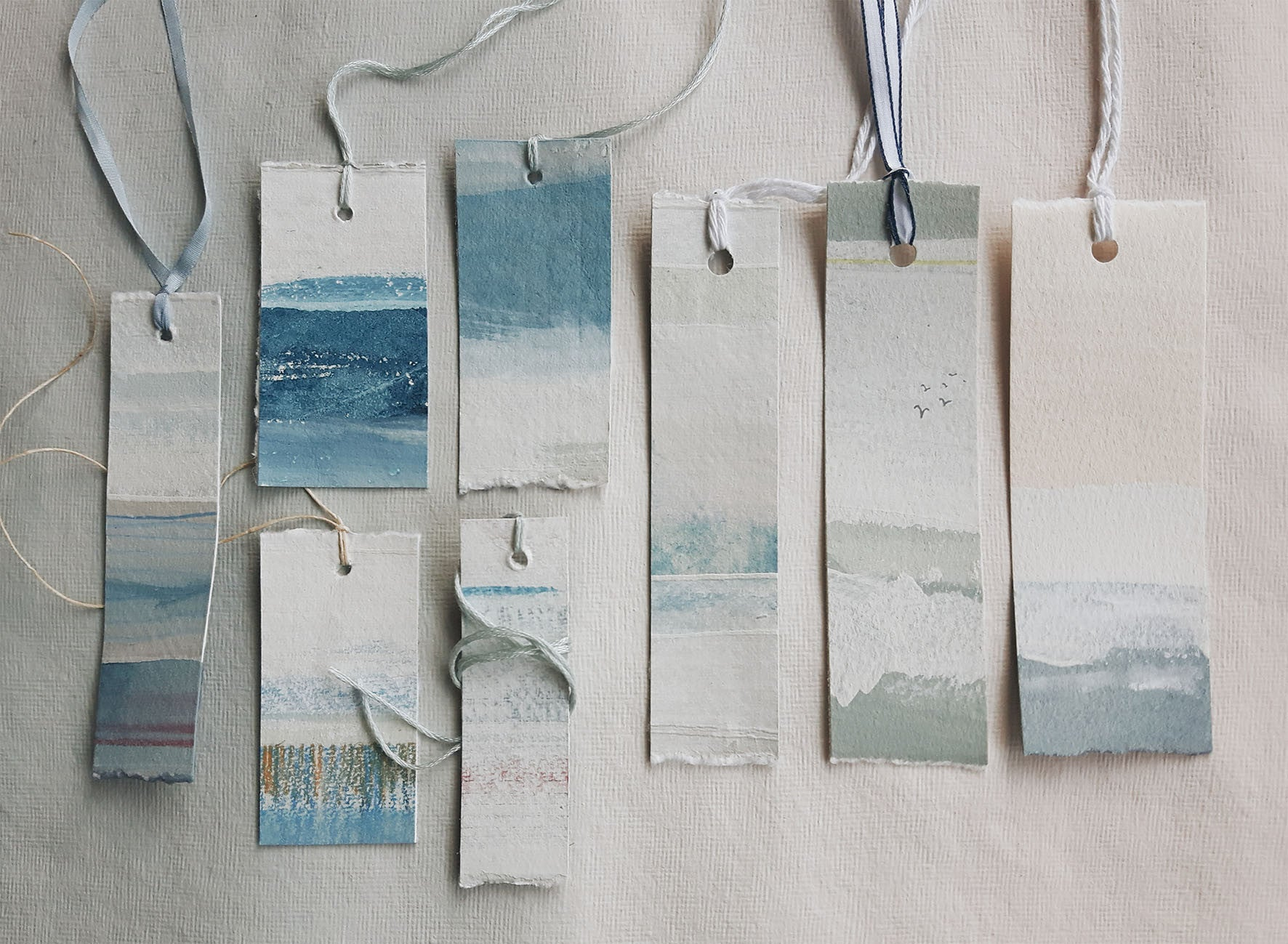 'Seascapes' Hand-painted Tags (collection 1)