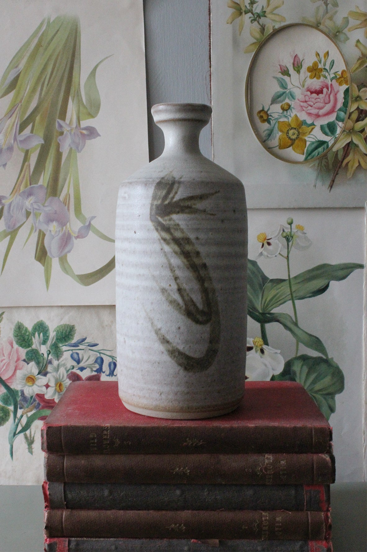 Hand Painted Studio Pottery Vase