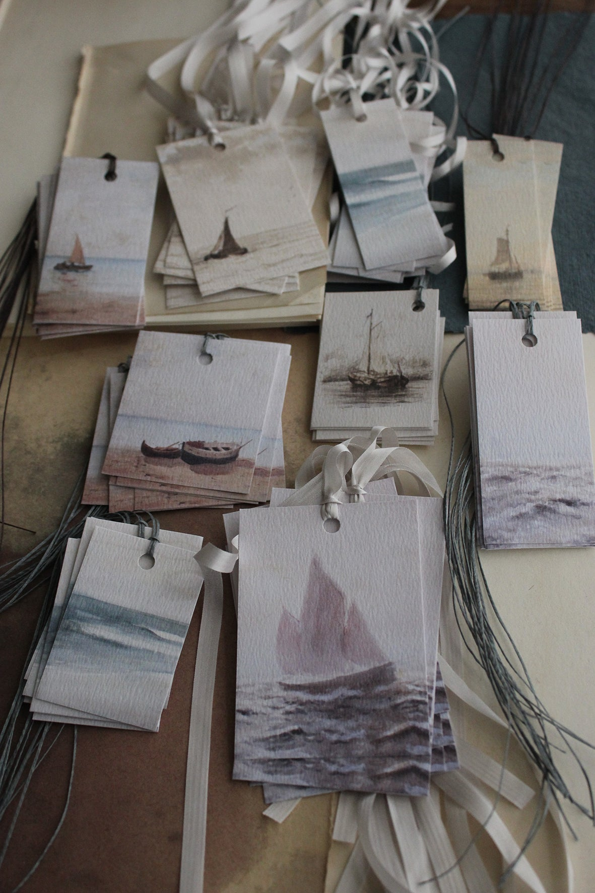"""Catching the Waves"" Printed Tags (set of 9)"
