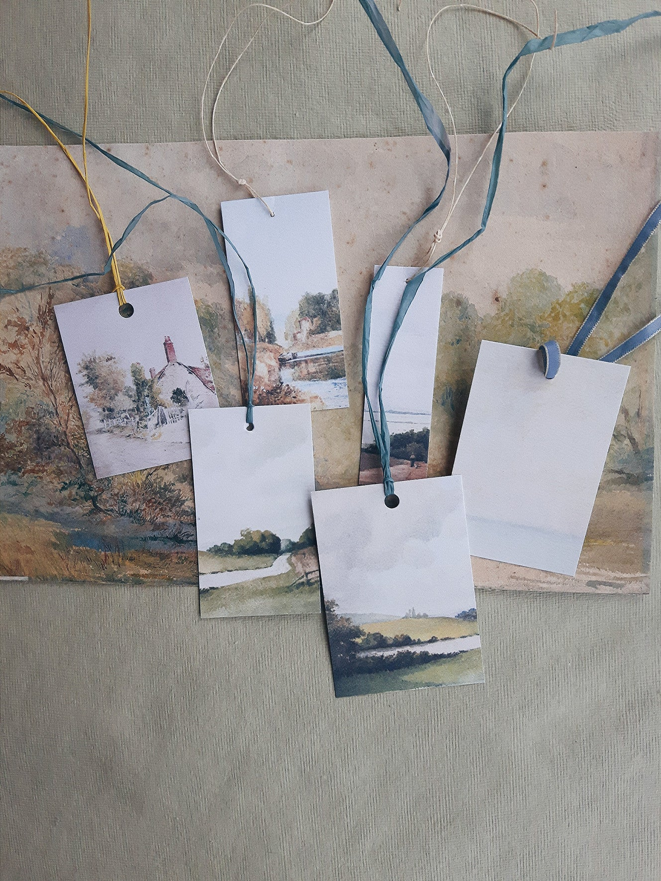 Printed 'Land & Sea' Tags (set of 6)