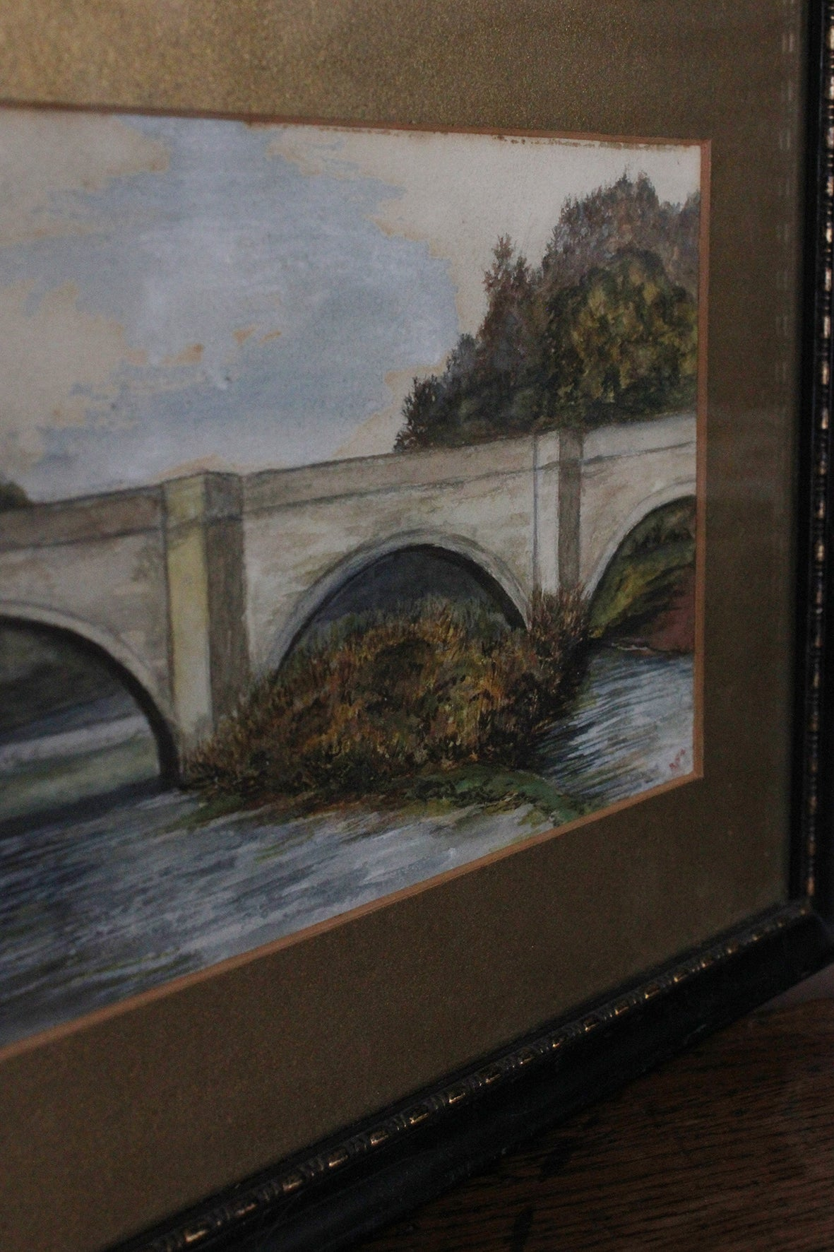 """The Bridge"" - old painting"