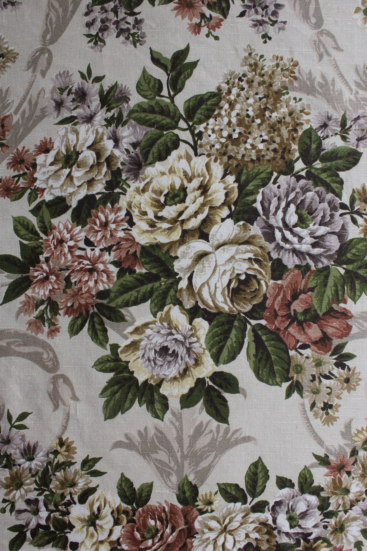 """Versailles"" - Vintage David Whitehead Floral Panel"