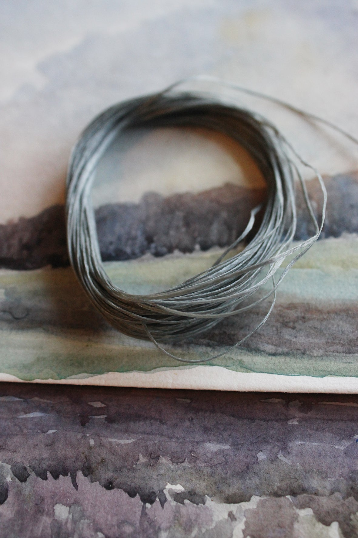 Waxed thread - FRENCH GREY